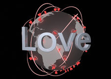Rete di amore Immagini Stock Libere da Diritti