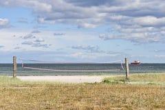 Rete di Beachvolley Fotografie Stock