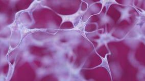Rete di Braincell illustrazione 3d delle forme collegate delle cellule Fotografie Stock