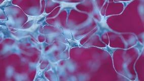 Rete di Braincell illustrazione 3d delle forme collegate delle cellule Immagini Stock Libere da Diritti