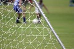 Rete di calcio Fotografie Stock
