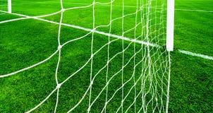 Rete di calcio su erba verde Immagine Stock Libera da Diritti