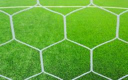 Rete di calcio su erba verde Fotografia Stock Libera da Diritti