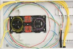 Rete di fibra ottica della fibra della struttura di distribuzione fotografia stock libera da diritti