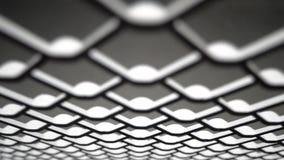 Rete di griglia del metallo video d archivio