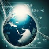 Rete di informazione globale Immagine Stock