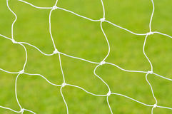 Rete di obiettivo di calcio Fotografia Stock