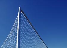 Rete di obiettivo di gioco del calcio di calcio Fotografie Stock Libere da Diritti