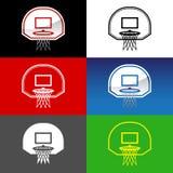 Rete di pallacanestro Immagini Stock