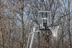 Rete di pallacanestro all'aperto Immagine Stock Libera da Diritti
