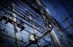 Rete di potere di energia della città sovraccaricata Immagini Stock Libere da Diritti