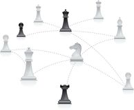 Rete di scacchi Fotografia Stock