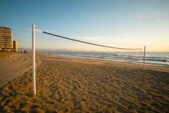 Rete di scarica della spiaggia fotografia stock