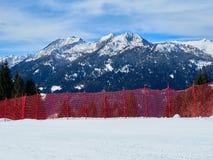 Rete di sicurezza della valle di Trentino Alto Adige Rendena delle dolomia di vista panoramica Fotografia Stock Libera da Diritti