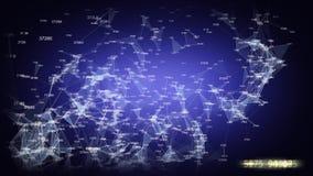 Rete di trasmissione di dati animata stock footage