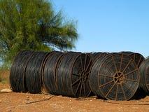 Rete di tubazioni dell'irrigazione a goccia Fotografie Stock Libere da Diritti