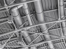 Rete di tubazioni di ventilazione del condizionatore d'aria della condotta di HVAC Fotografie Stock