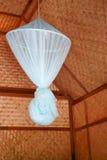 Rete di zanzara in capanna di bambù Fotografia Stock Libera da Diritti