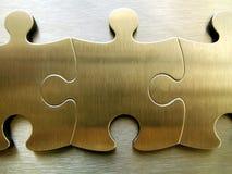 Rete dorata del puzzle Fotografia Stock Libera da Diritti