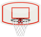 Rete e cerchio di pallacanestro illustrazione di stock