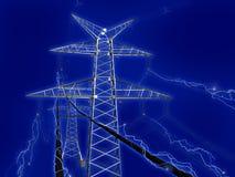 Rete elettrica Immagini Stock