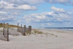 Rete fissa alla spiaggia Fotografia Stock Libera da Diritti