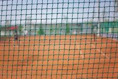 Rete fissa del nylon della corte di tennis Fotografia Stock Libera da Diritti