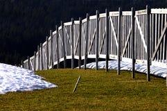 Rete fissa della neve Fotografie Stock