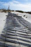 Rete fissa della spiaggia Fotografie Stock