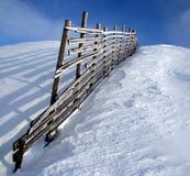 Rete fissa dello Snowy Fotografie Stock