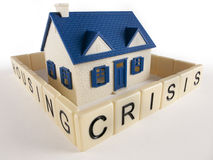 Rete fissa di crisi dell'alloggiamento Fotografie Stock Libere da Diritti