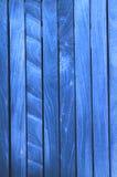 Rete fissa di legno blu Fotografie Stock Libere da Diritti