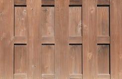 Rete fissa di legno del Brown Fotografia Stock