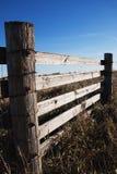 Rete fissa di legno del terreno coltivabile Immagine Stock