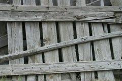 Rete fissa di legno esposta all'aria Fotografie Stock Libere da Diritti