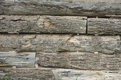 Rete fissa di legno esposta all'aria Fotografia Stock