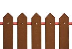 Rete fissa di legno isolata su priorità bassa bianca Fotografie Stock