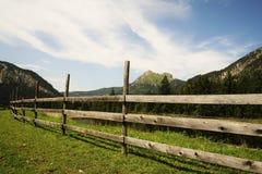 Rete fissa di legno nelle alpi Immagine Stock Libera da Diritti