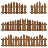Rete fissa di legno Recinto di legno su fondo Rete fissa di legno del Brown Immagini Stock Libere da Diritti