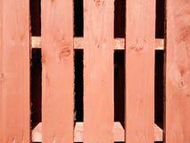 Rete fissa di legno rossa Fotografia Stock Libera da Diritti