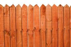 Rete fissa di legno rossa Fotografie Stock Libere da Diritti