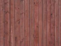 Rete fissa di legno rossa Fotografia Stock