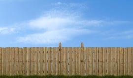Rete fissa di legno vecchia Fotografie Stock