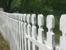 Rete fissa di picchetto bianca Fotografia Stock