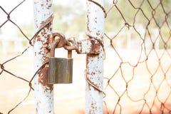Rete fissa Locked fotografia stock libera da diritti
