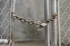Rete fissa Locked Immagine Stock