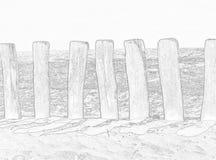 Rete fissa lungo la spiaggia Fotografia Stock