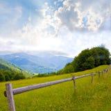 Rete fissa in montagne Fotografia Stock