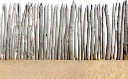 Rete fissa sulla sabbia isolata Fotografia Stock Libera da Diritti
