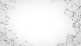 Rete futuristica di tecnologia astratta - fondo del plesso immagine stock libera da diritti